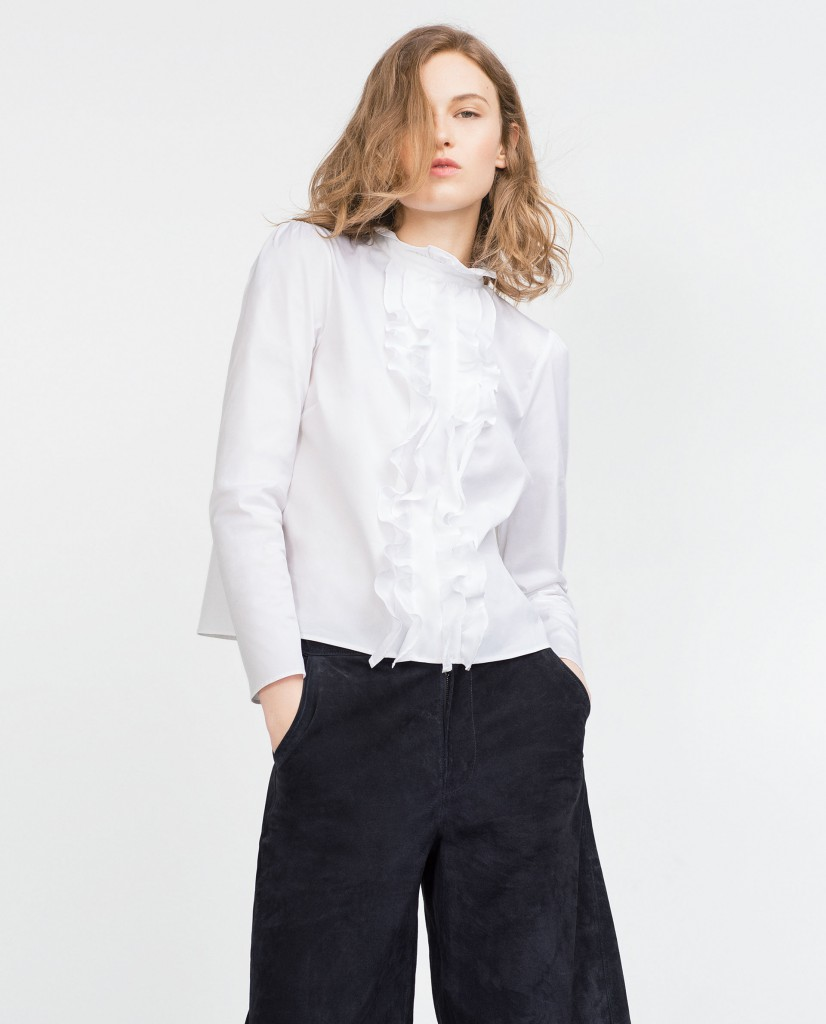 Zara | Top With Frill | £29.99