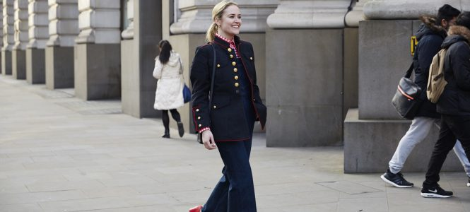 Gingham, Military and Pops of Red for Day 2 at LFW
